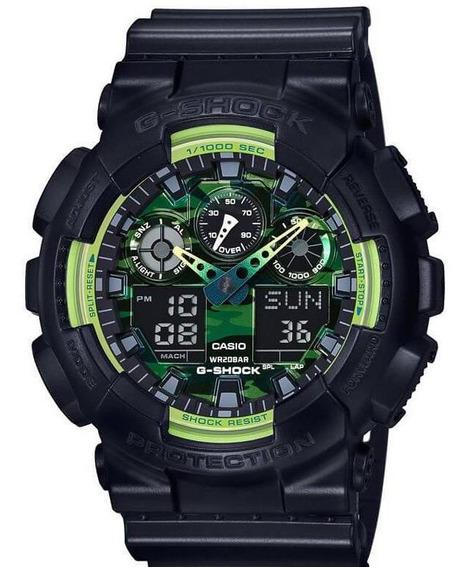 Relógio Casio Masculino G-shok Ga-100ly-1adr Verde Anadigi