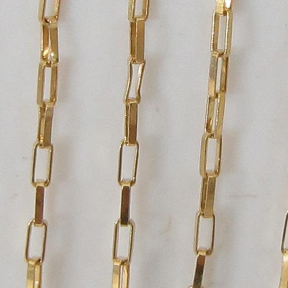 1876 Corrente 45 Cm De Ouro 18k 750
