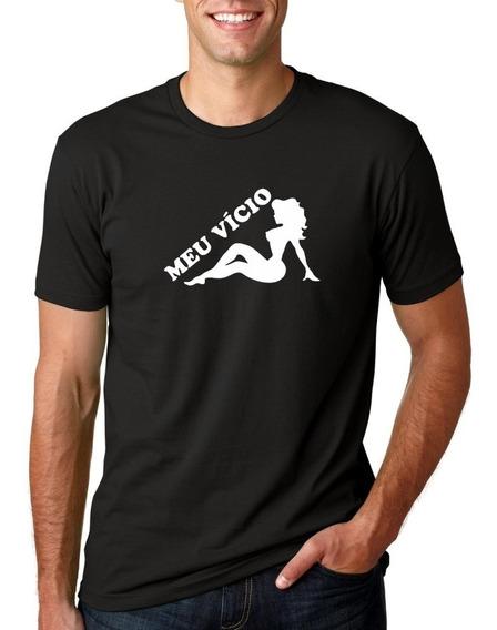 Camiseta Masculina Divertida - Engraçada - Meu Vício Moderna