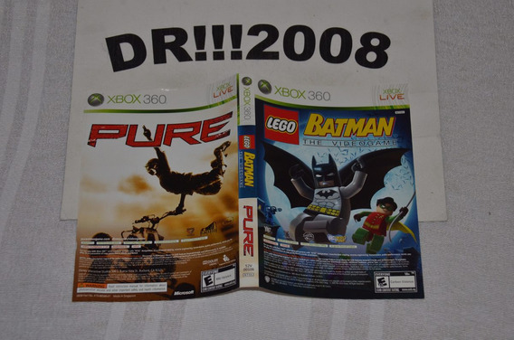 Encarte Lego Batman / Pure Original P/ X-box 360!!!