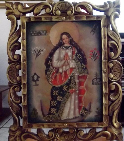 Obra De Arte Pintura Cusquenha Nossa Senhora