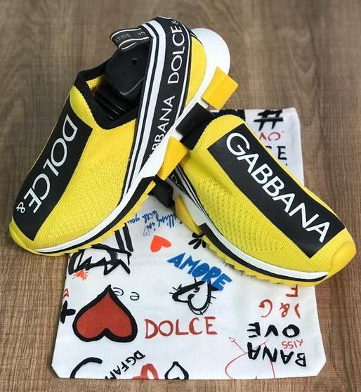 Tênis Dolce & Gabbana Amarelo Frete Grátis Envio Imediato