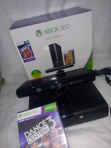 Xbox 360 + Kinect + Hdd Externo 320g + 1 Controles