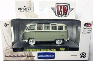 M2 Machines - 1962 Volkswagen Kombi, Escala 1/64, Mide 7 Cm.