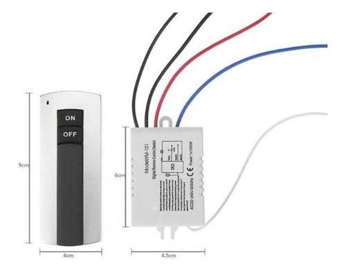 Imagen 1 de 4 de Modulo Interruptor 1 Canal  110 V  Inalambrico + Control