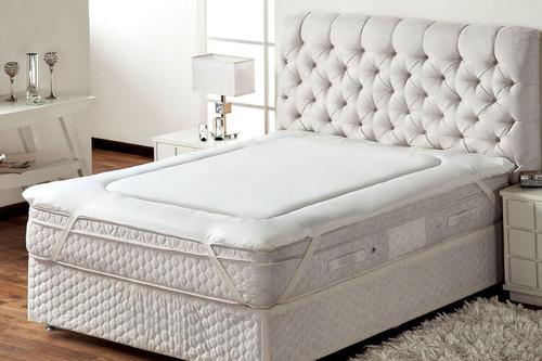 Protetor De Colchão Trisoft Pillow Top Queen Macio Promoção