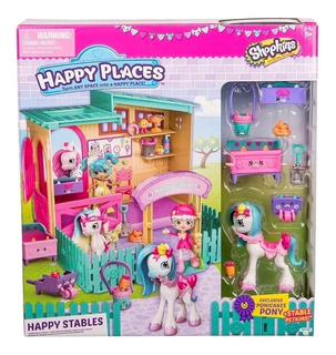 Shopkins Happy Places Establo C/ Pony Completo En Toysmarket