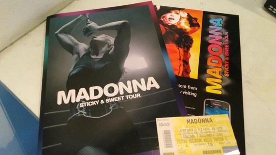 Madonna Sticky & Sweet Tour - Program, Publicidad Y Entrada