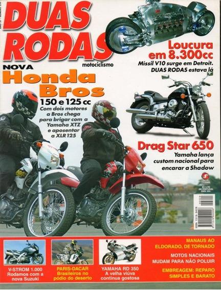Duas Rodas N°329 Honda Bros 125 150 Drag Star 650 V-strom