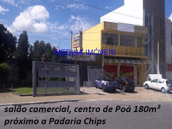 Galpão No Centro De Poá - Perto Do Mc Donalds - Sl00012 - 4701188