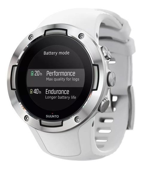 Reloj Gps Deportivo Blanco Sensor Óptico Sumergible Suunto