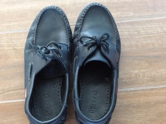 Zapatos Hombre Cuero Negro Talle 36 Sin Uso Marcel