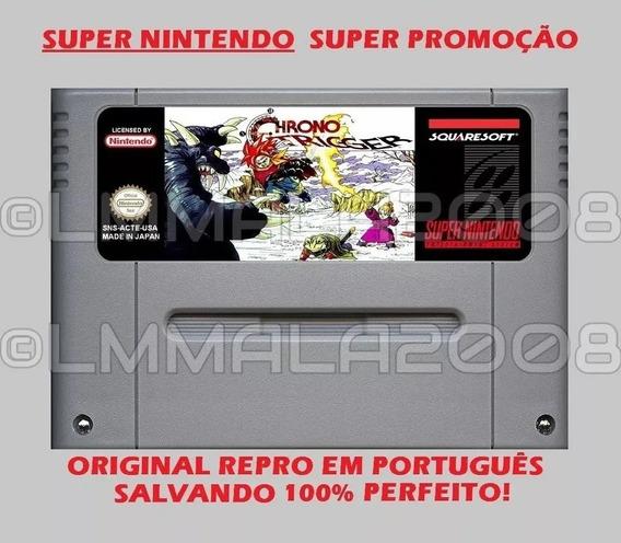 Original Chrono Trigger Português Snes Super Nintendo Salva