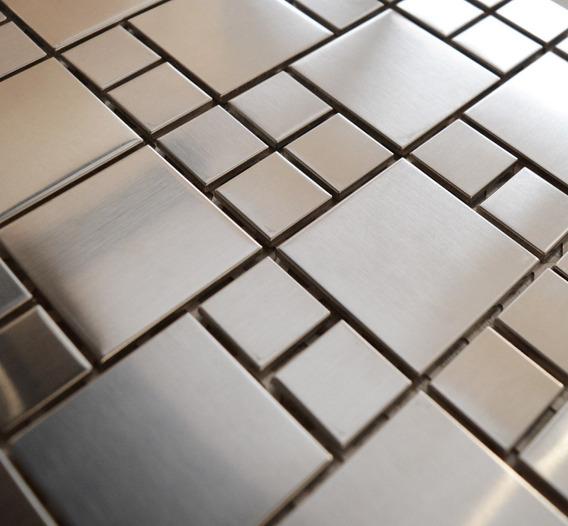 Malla Mosaico Metálica 30x30 - Acero Inoxidable - 1ra