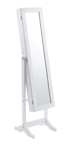 Armario Joyero Espejo Organizador Blanco Luz Led