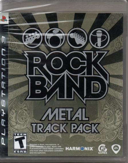 Rock Band Metal Track Pack Ps3 Novo Original Lacrado