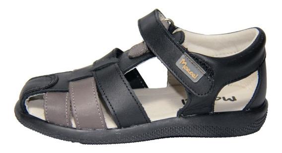Sandalia Infantil Marcel Negro/gris