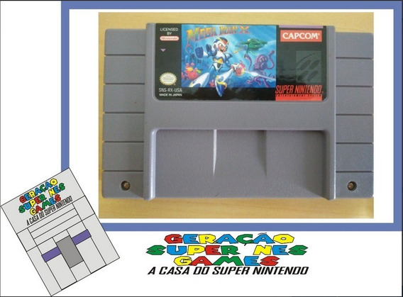 Megaman X Original Super Nintendo Snes Testada