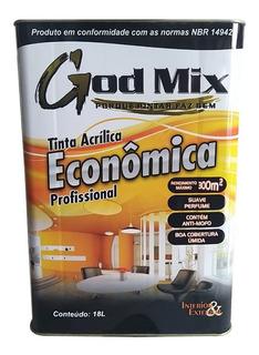 Tinta Acrílica Econômica Parede God Mix 18l Cores Diversas
