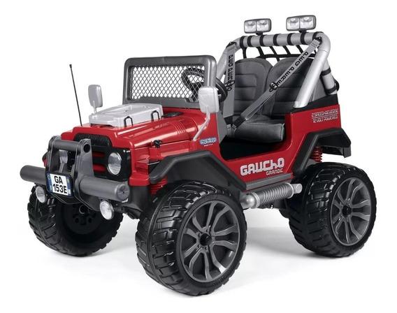 Mini Veiculo Pick-up Elétrica Gaucho Grande Red Peg Perego