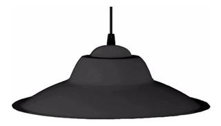 Colgante Chapa Negro C136 Ferrolux Apto Led Rosca Comun