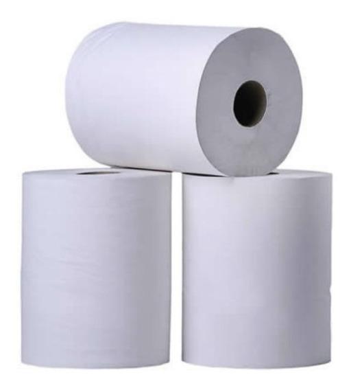 Papel Toalha Bobina 8 Rolos De 20cm X 200m Branca