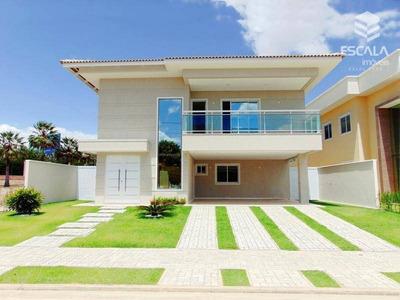 Casa Duplex Com 5 Quartos À Venda, 421 M², 4 Vagas - Alphaville Eusébio - Eusébio/ce - Ca0186