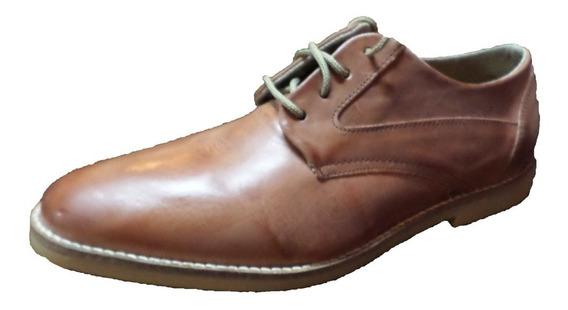 Zapato Punta Fina Acordonado Cuero (100)