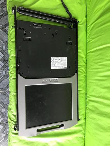 Dell Poweredge Kmm 1u Rack Console 17fp Pdjcn W/ Rail Kit Nm