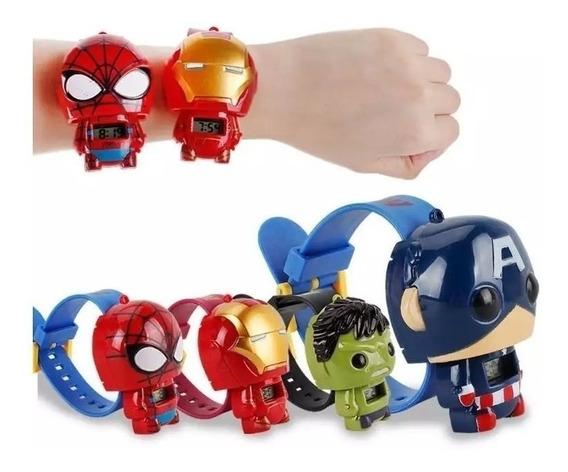 Relógio Vingadores Marvel Homem Capitão Aranha Ferro Hulk