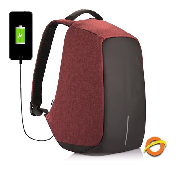 Mochila Antirrobo Usb Notebook Impermeable Anticorte Litros