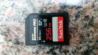Cartão De Memória Sd Sandisk 256 Gb - Novo