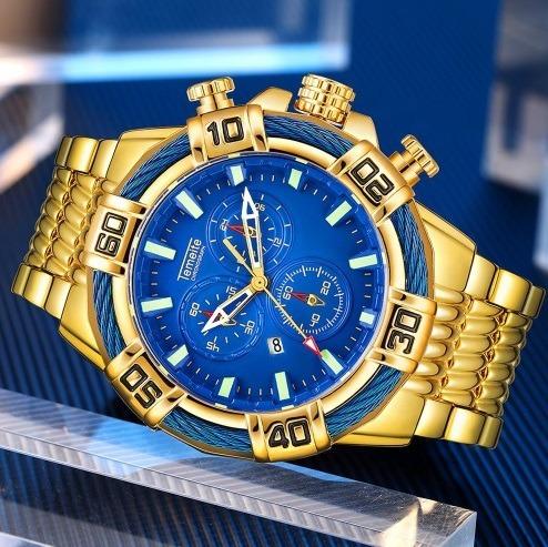 Relógio Temeite Original Aço Inoxidável Prova D´água