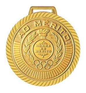 Medalha 40 Mm 10 Unidades Ouro Prata Bronze Fita Cetim Nota!