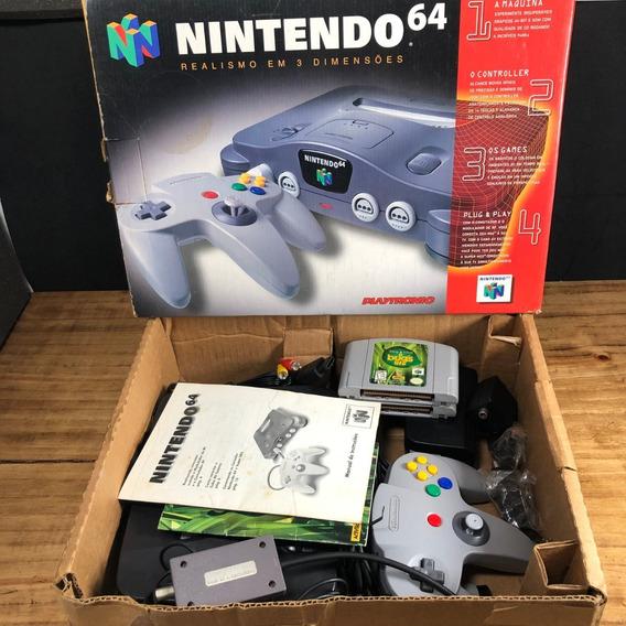 Nintendo 64 Original Na Caixa Playtronic C/ Jogos!! N64 Raro