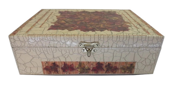 Caixa Baú De Madeira Decorativa Organizadora Ou De Jóias