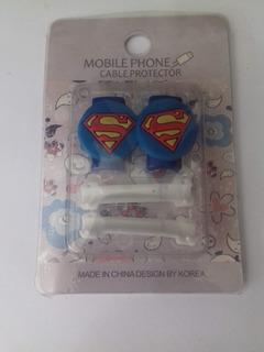 Protector Punta Cable Cargador Datos Manos Libres Superman