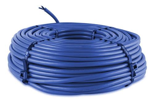 Imagen 1 de 7 de Cable Instalacion 1.00mm Azul Rolollo 30mts