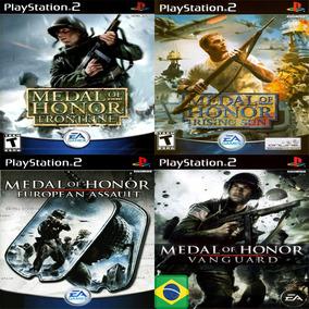Promoção Coleção 4 Jogos Medal Of Honor Ps2 Patch