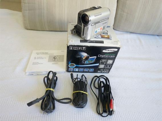 Filmadora Samsung Digital Camcorder Sc-d353 Leia O Anuncio