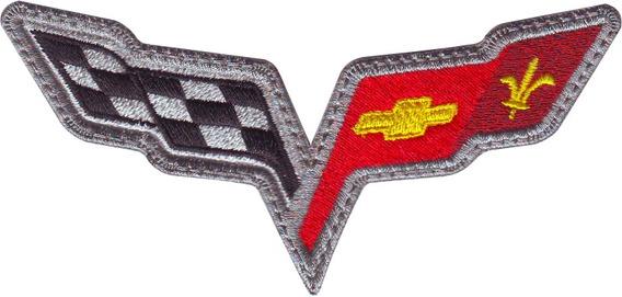 Corvette Banderines Chevrolet Carros Parches Bordados Coser