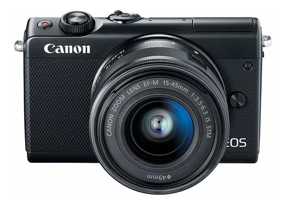 Canon EOS M100 15-45mm IS STM Kit mirrorless cor preto