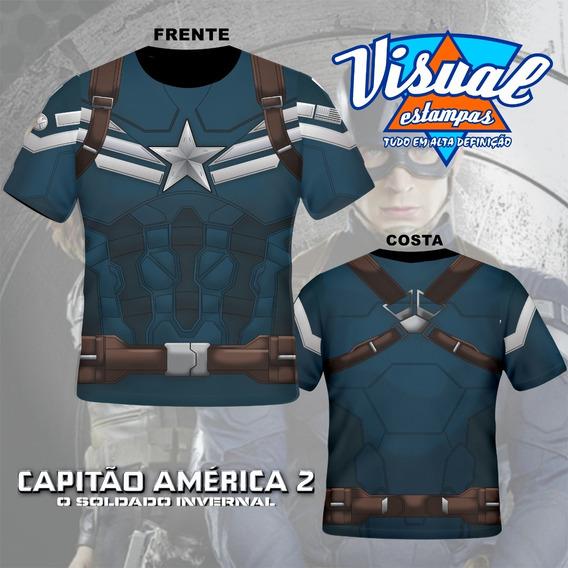 Camiseta Capitão Amarica O Soldado Invernal