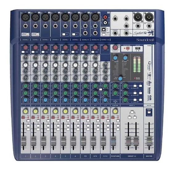 Mesa De Som 12 Canais Soundcraft Signature 12 Usb Interface