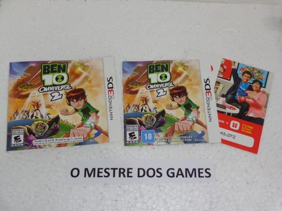 Somente O Encarte E Manual Do Jogo Ben 10 Para Nintendo 3ds