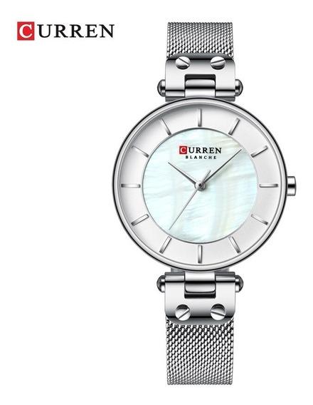 Relógio Feminino Curren Lindo Aço Resistente A Água Na Caixa