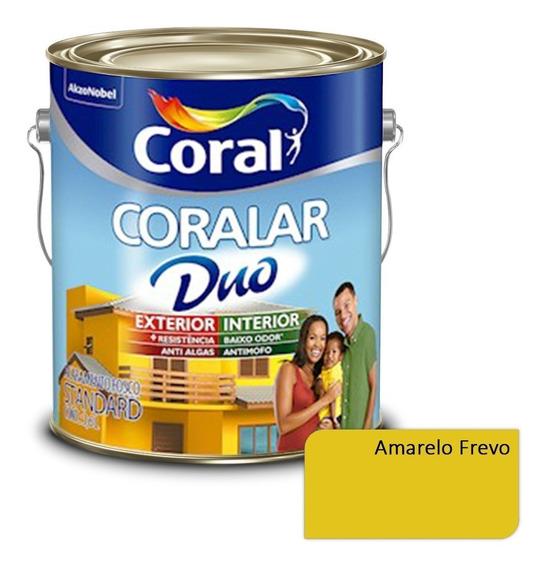 Tinta P/ Parede Externa Coralar Duo Coral Amarelo Frevo 3,6l