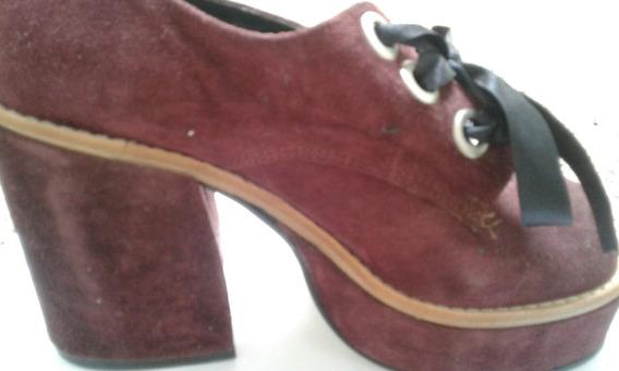 Zapatos Plataforma Oxford Nobuk Nuevos !