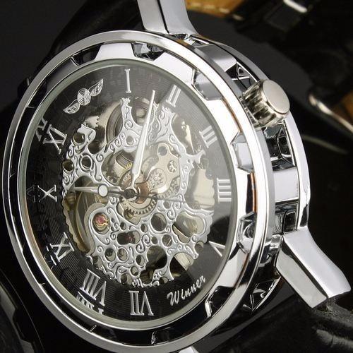 Relógio Winner Skeleton Mecânico