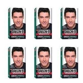 Kit/6 Grecin 5 Shampoo Tonalizante Castanho Escuro H-45 60ml
